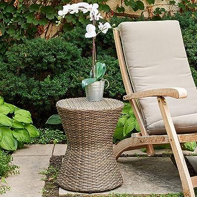 Quality Outdoor Living 65-YZGS02 Newport Garden Stool, Brown Wicker : Garden & Outdoor