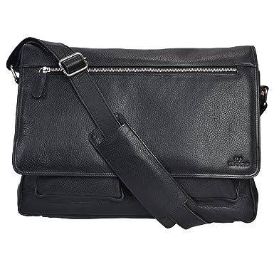 Amazon Com Genuine Leather Messenger Bag For Men And Women 14