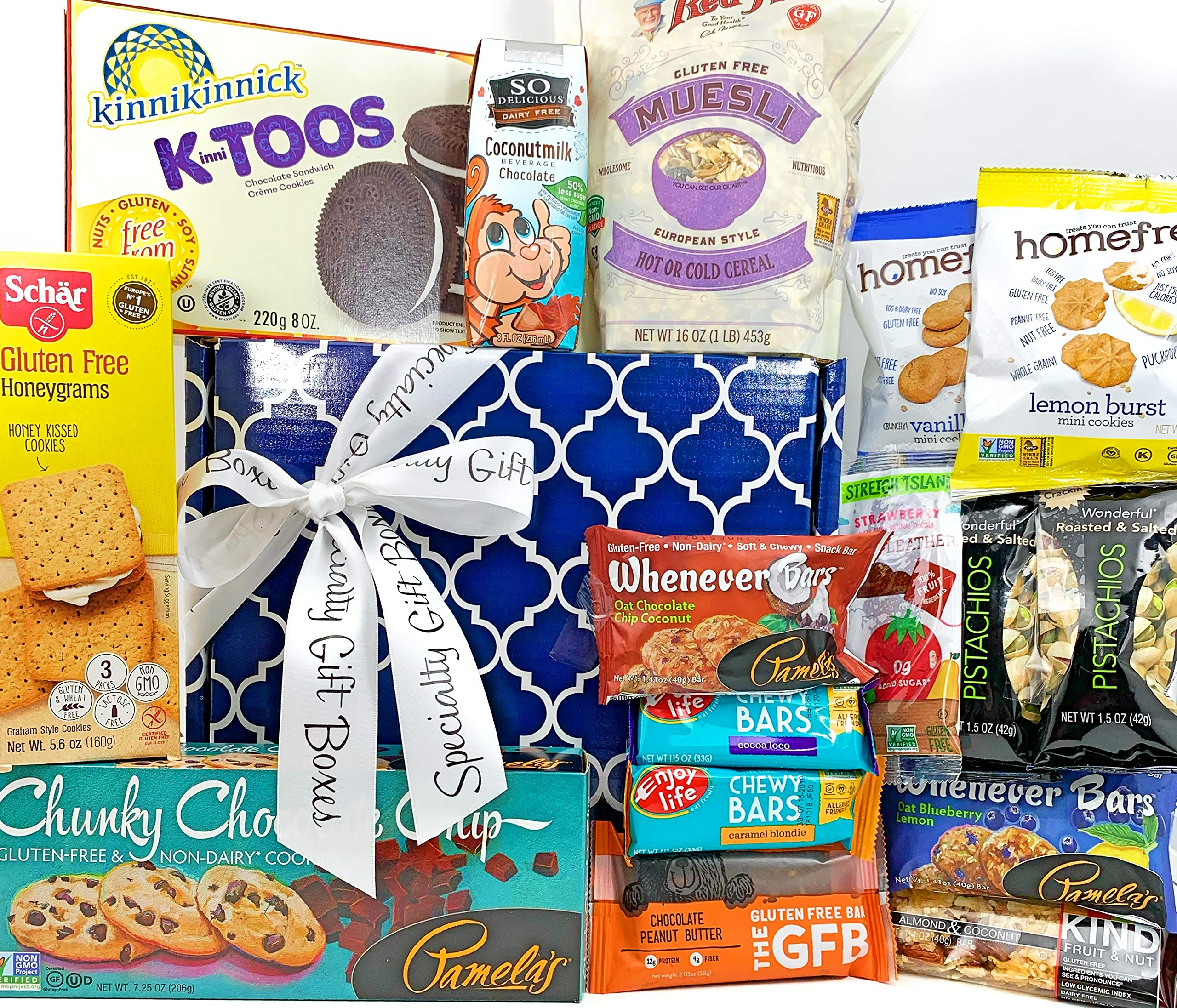 Big Gluten Free Dairy Free Gift Box Basket - 5 Lbs - Birthday College Military Care Package Sympathy Thinking of You Get Well Christmas Valentine's Easter Mother's Day Father's Day by Specialty Gift Boxes