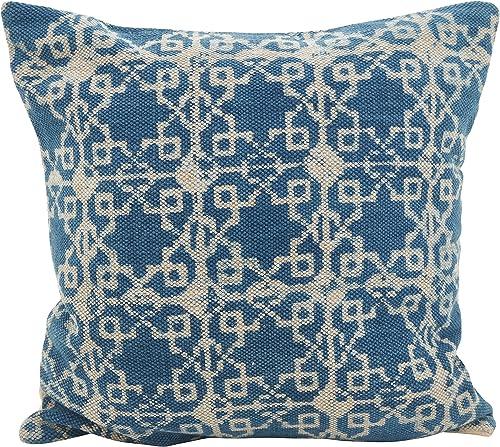 SARO LIFESTYLE Moravia Collection Distressed Diamond Throw Pillow, 20