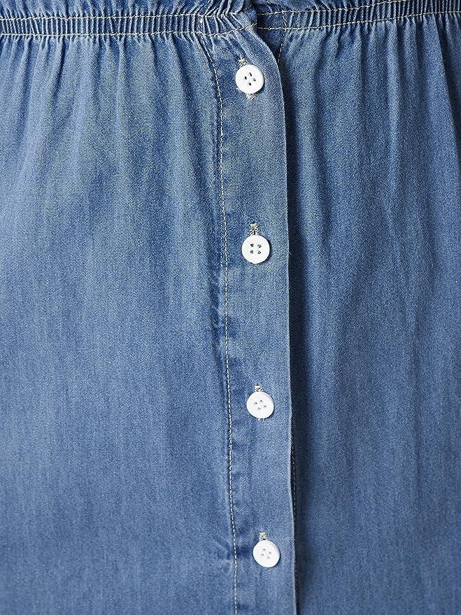 5c6c92433e4 Miss Chase Women s Blue Maxi Denim Shirt Dress  Amazon.in  Clothing    Accessories