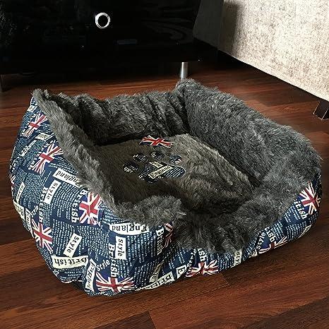 Novedad Unioin Jack Imprimir mascotas perro cama grande cómodo lavable mascota cama de perro regalo
