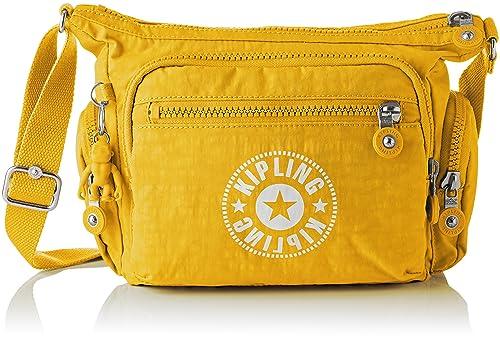 7441a3bf6 Kipling - Gabbie S, Bolsos bandolera Mujer, Amarillo (Lively Yellow), 16.5