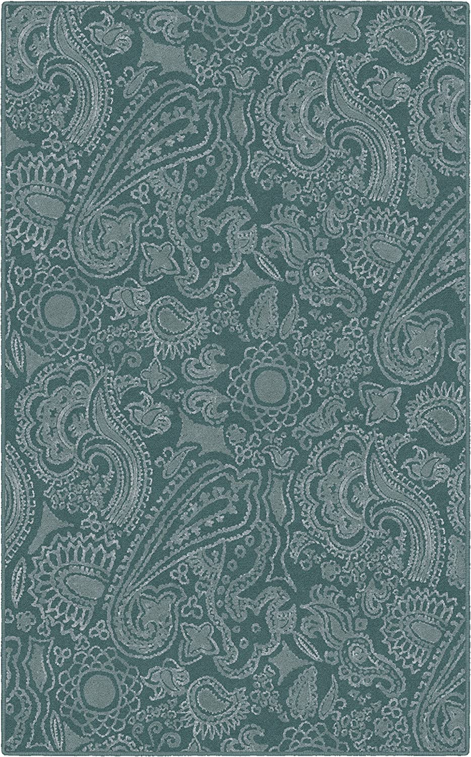 Brumlow Mills Contemporary Modern Paisley Pattern Decorative Area Rug for Home Décor, Living Room, Bedroom, Kitchen, Dining or Doorway Mat, 2'6