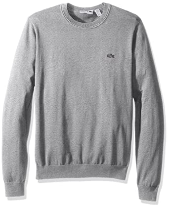 1a50e6d0b Lacoste Men s Cotton Jersey Crew Neck Sweater