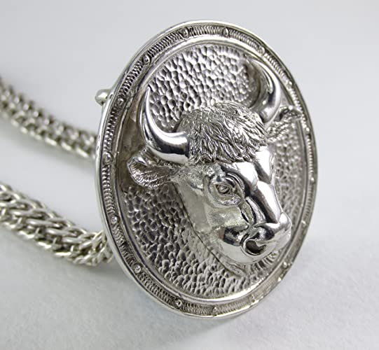 Amazon taurus necklace zodiac necklace mens necklace mens taurus necklace zodiac necklace mens necklace mens silver necklace taurus pendant aloadofball Choice Image