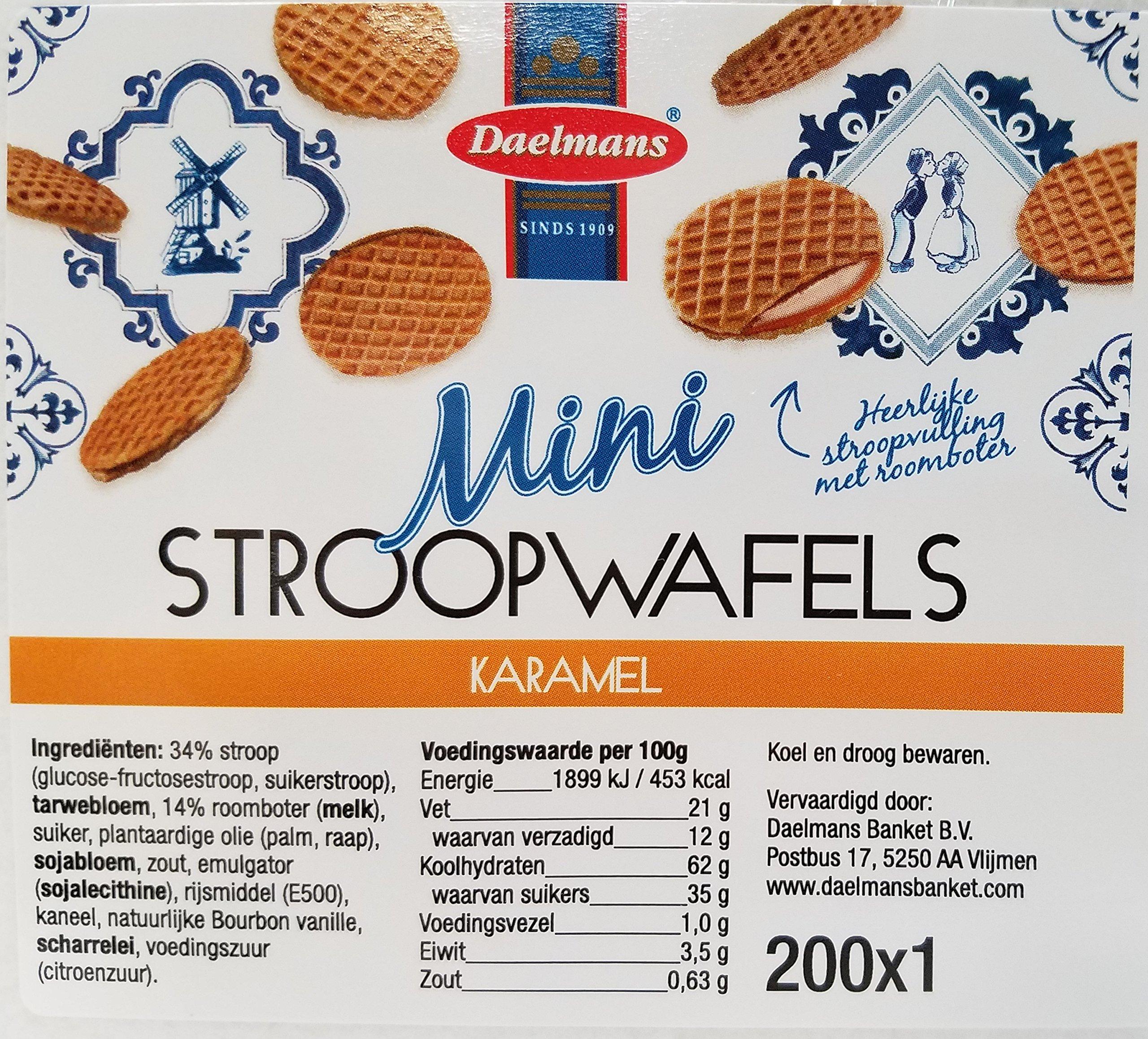 Daelmans Mini Caramel Wafer, 200ct Stroopfwafels