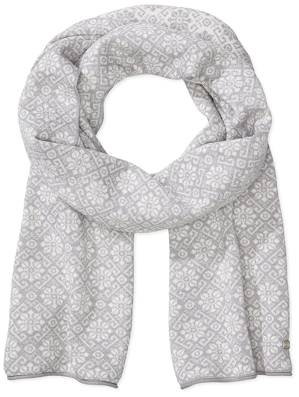 Dale of Norway – Bufanda para mujer Sonja, color gris claro/blanco roto, 200 cm, 10961-A-01