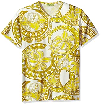 47cd39c3 Amazon.com: Versace Jeans Men's Gold Printed T-Shirt, Bianco, Small ...