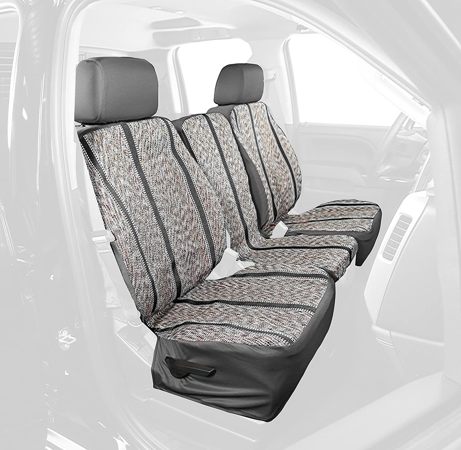 Gray Saddleman Rear Custom Fit Seat Cover for Select Ford F-150 Models Saddle Blanket Fabric