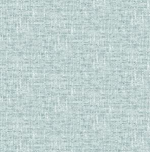NuWallpaper NU2919 Aqua Poplin Texture Peel & Stick Wallpaper