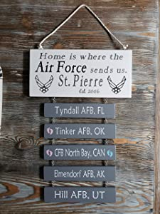 Home is Where The Air Force Sends us, Home is Where The Navy Sends us, Home is Where The Army Sends us, Military, Patriotic Sign,Custom Sign