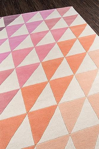 Novogratz Delmar Collection Agatha Side Triangles Area Rug, 3 6 x 5 6 , Pink