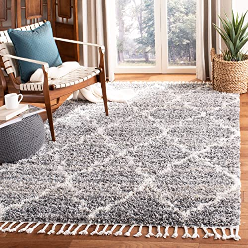 Safavieh Montreal Shag Collection SGML938F 1.5-inch Thick Tassel Area Rug