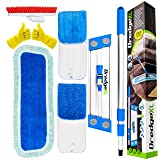"Temples Pride Professional 18"" Microfiber flat mop kit + 3 replacement wet & dry refill pads