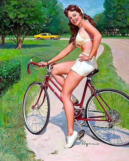on girl bike up Pin