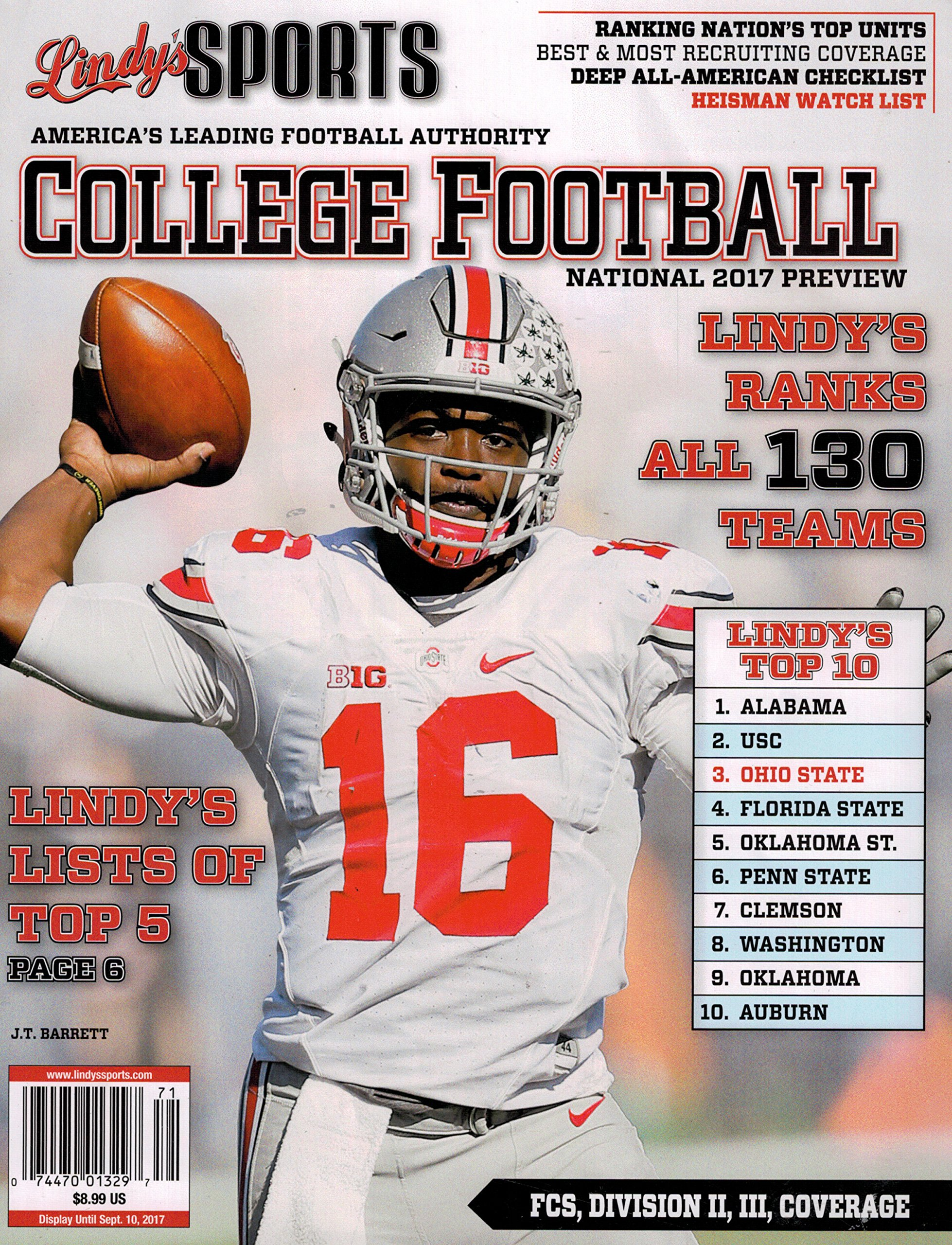 LINDY'S SPORTS College FOOTBALL 2017 Preview: Amazon com: Books