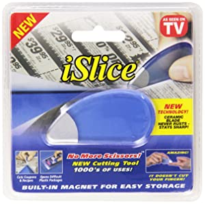 Slice Package Opener and Cutting Tool, Safe Ceramic Blade, Finger Friendly