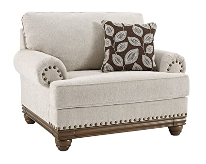 Wondrous Ashley Furniture Signature Design Harleson Traditional Chair And A Half Oversized Accent Chair With Throw Pillow Wheat Beatyapartments Chair Design Images Beatyapartmentscom