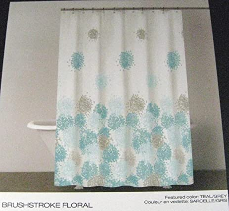 DKNY Brushstroke Floral Fabric Shower Curtain 72quot X