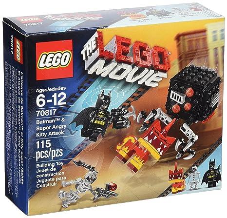 Amazoncom Lego Movie Batman And Super Angry Kitty Attack Block