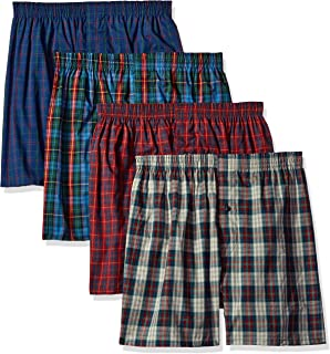 ef97ce2131bf Fruit of the Loom Men's Woven Tartan and Plaid Boxer Multipack at ...