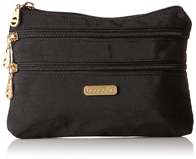 5f7a5c1517 Baggallini SZC136G Shanghai 3 Zip Case - Gold Hardware