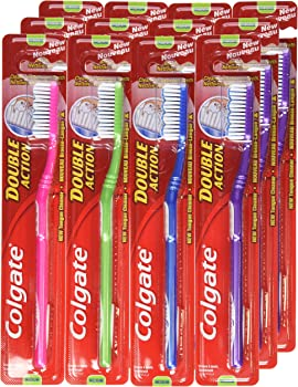 12-Pack Colgate Double Action Medium Toothbrush Set