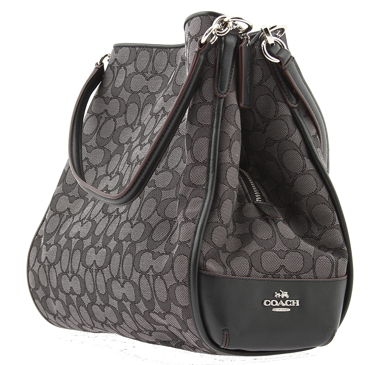 Amazon.com  Coach Signature Phoebe Tote Carryall Handbag Shoulder Bag Smoke    Black F36424  Shoes 7e0938855e504