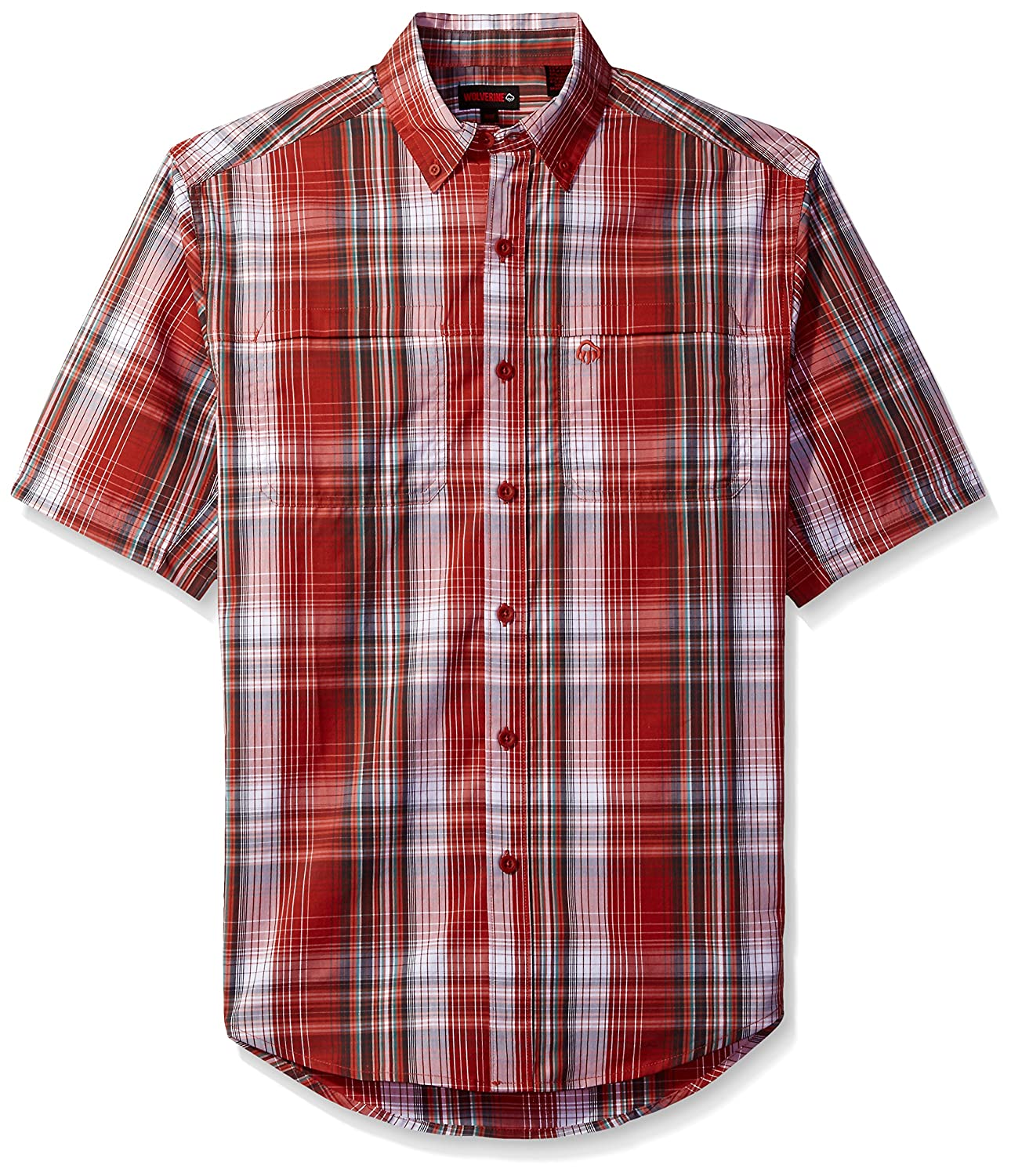 Wolverine SHIRT メンズ B01N0DVONC Large|Barn Red Plaid Barn Red Plaid Large