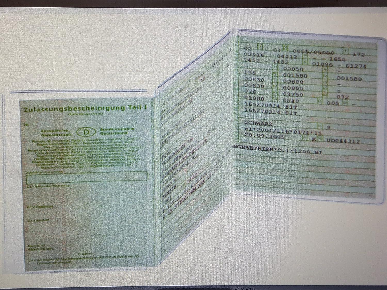Kfz Ausweishülle aus PP dreiteilig, transparent 1 Stück transparent 1 Stück Toner & Tinten Fuchs