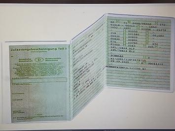 Fahrzeugscheinhülle transparent 1-50 Stück Dokumentenhülle Fahrzeugschein