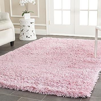 Amazon Com Safavieh Classic Shag Collection Sg240p Handmade 1 75 Inch Thick Area Rug 6 X 9 Pink Furniture Decor