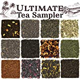 Solstice Loose Leaf Tea Ultimate Sampler Feat. 12 Teas; Sencha & Gunpowder Green Tea, Masala Chai Black Tea, Rooibos Herbal Tea, And More!