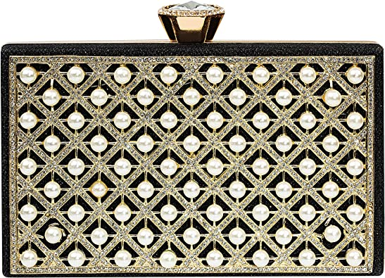 Double Side Beaded Exquisite Evening Bag Party Clutch Pearl Crossbody Bags