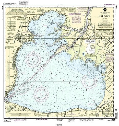 Lake St Clair Map Amazon.: NOAA 14850 Lake St. Clair : Fishing Charts And Maps