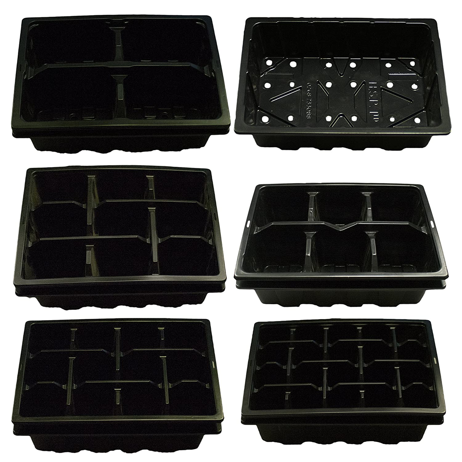 Elixir Gardens ® Half Size Seed Trays Greenhouse | Optional Lids | Cell Packs 4,6,9,12,25