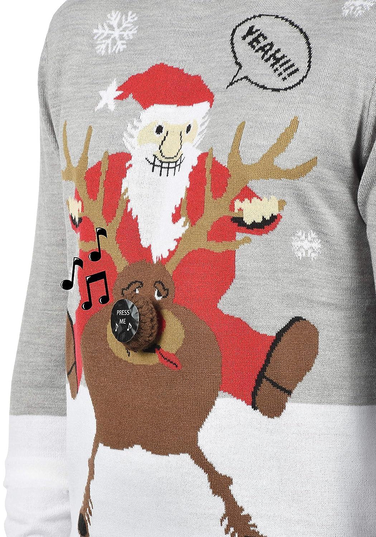 d8c3ae938a70 Blend Deer Herren Strickpullover Weihnachtspullover Mit Rundhals-Ausschnitt