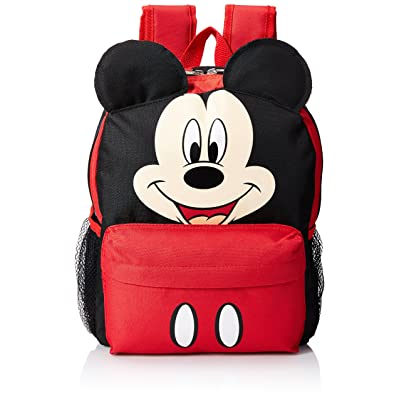"Disney Mickey Mouse Smiley Face and Ears Kids 12"" Backpack: Clothing"