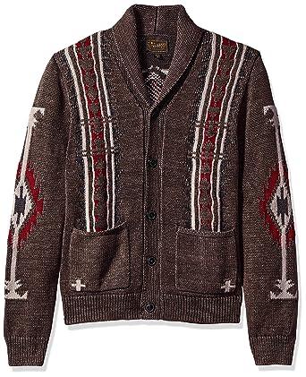 04a4da9dd63 Lucky Brand Men's Washed Navajo Cardigan Sweater