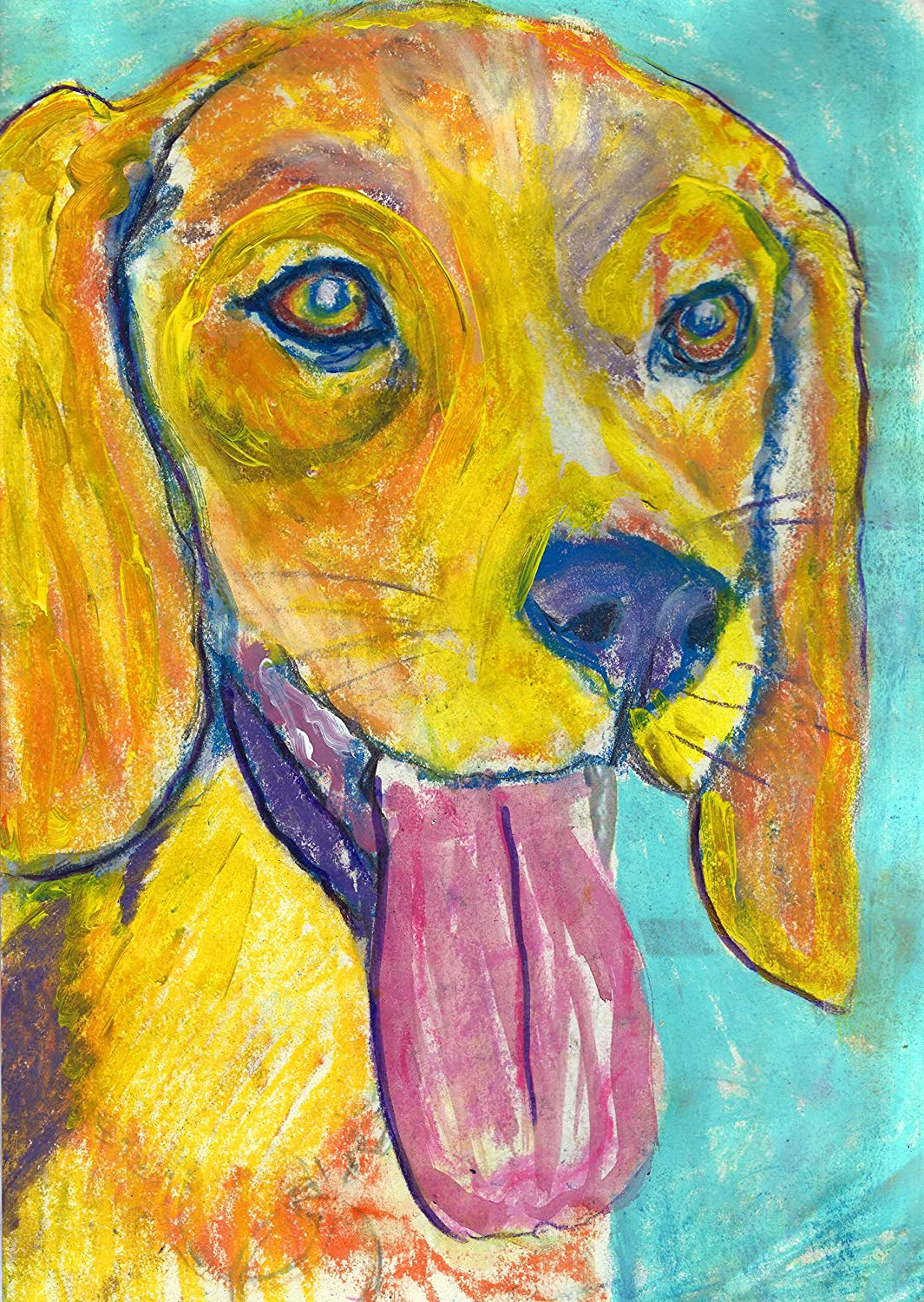 Amazon.com: Abstract Beagle Pastel Painting Pop Art Print, Colorful ...