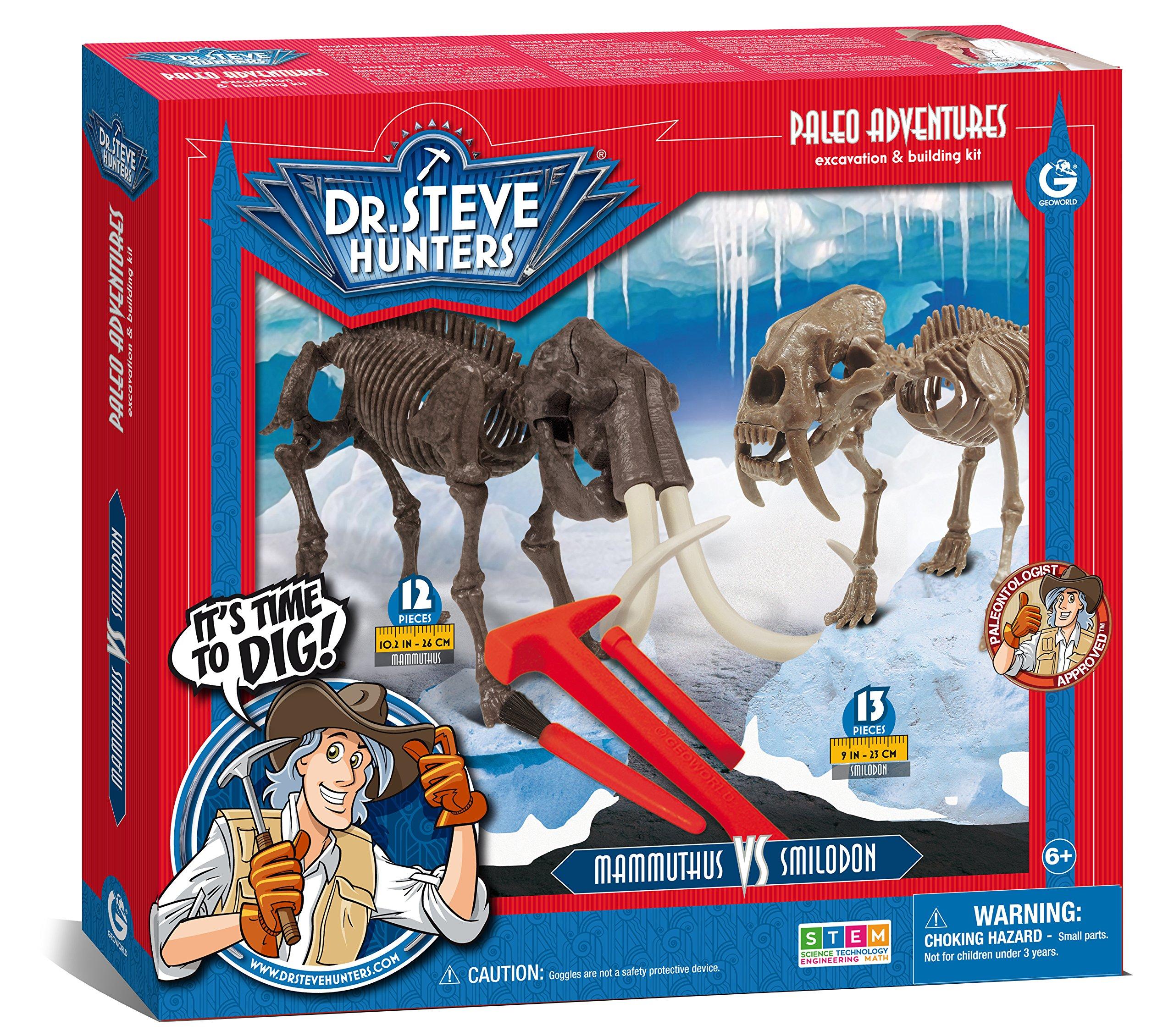 Geoworld Paleo Adventures Smilodon vs. Mammuthus Excavation Kit