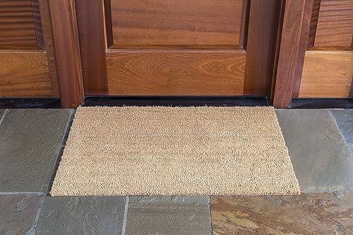 DeCoir 24 x 36 Natural Tan Plain Coir Doormat