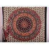 Double Elephant Tapisserie Hippie Hippie, peinture murale, union, Bohemian Mandala, lits de coton dortoir couvre-lit Decor