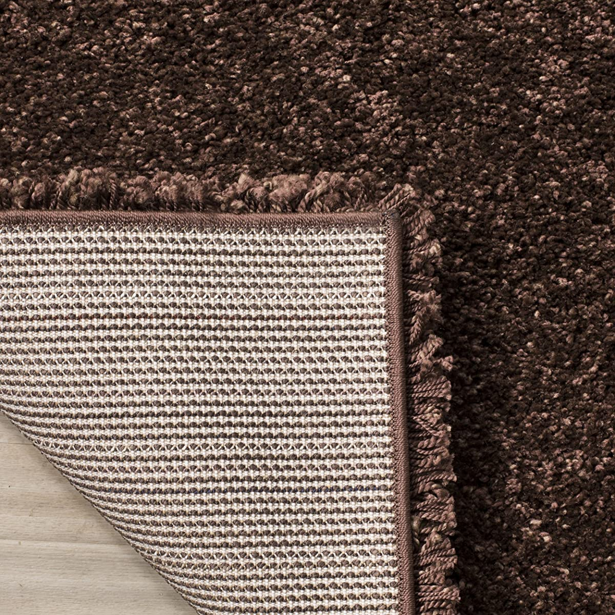Safavieh Milan Shag Collection SG180-2525 Brown Area Rug (4 x 6)