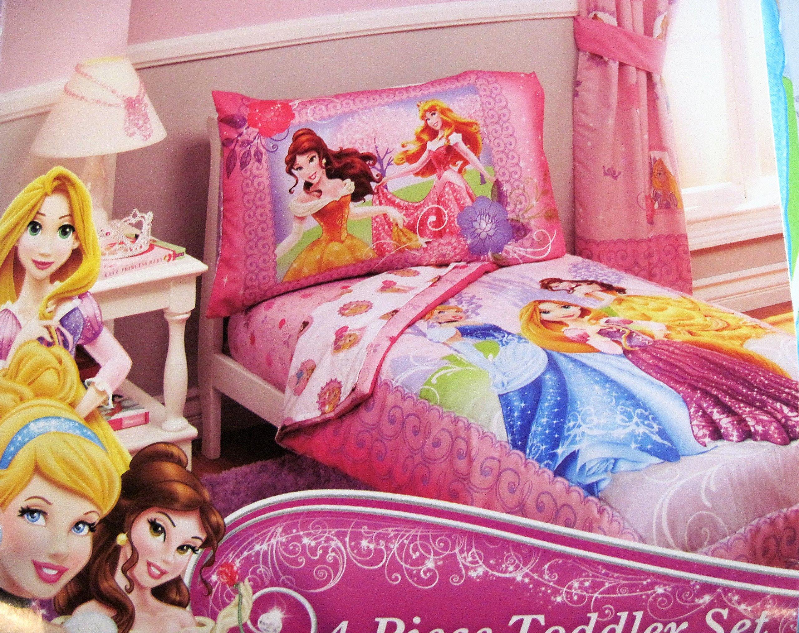 Disney Princess Girls Timeless Elegance 4 Piece Toddler Bedding Set 85214091877