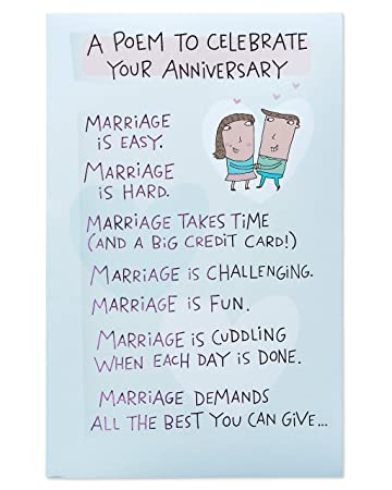 amazon com american greetings funny poem anniversary card for