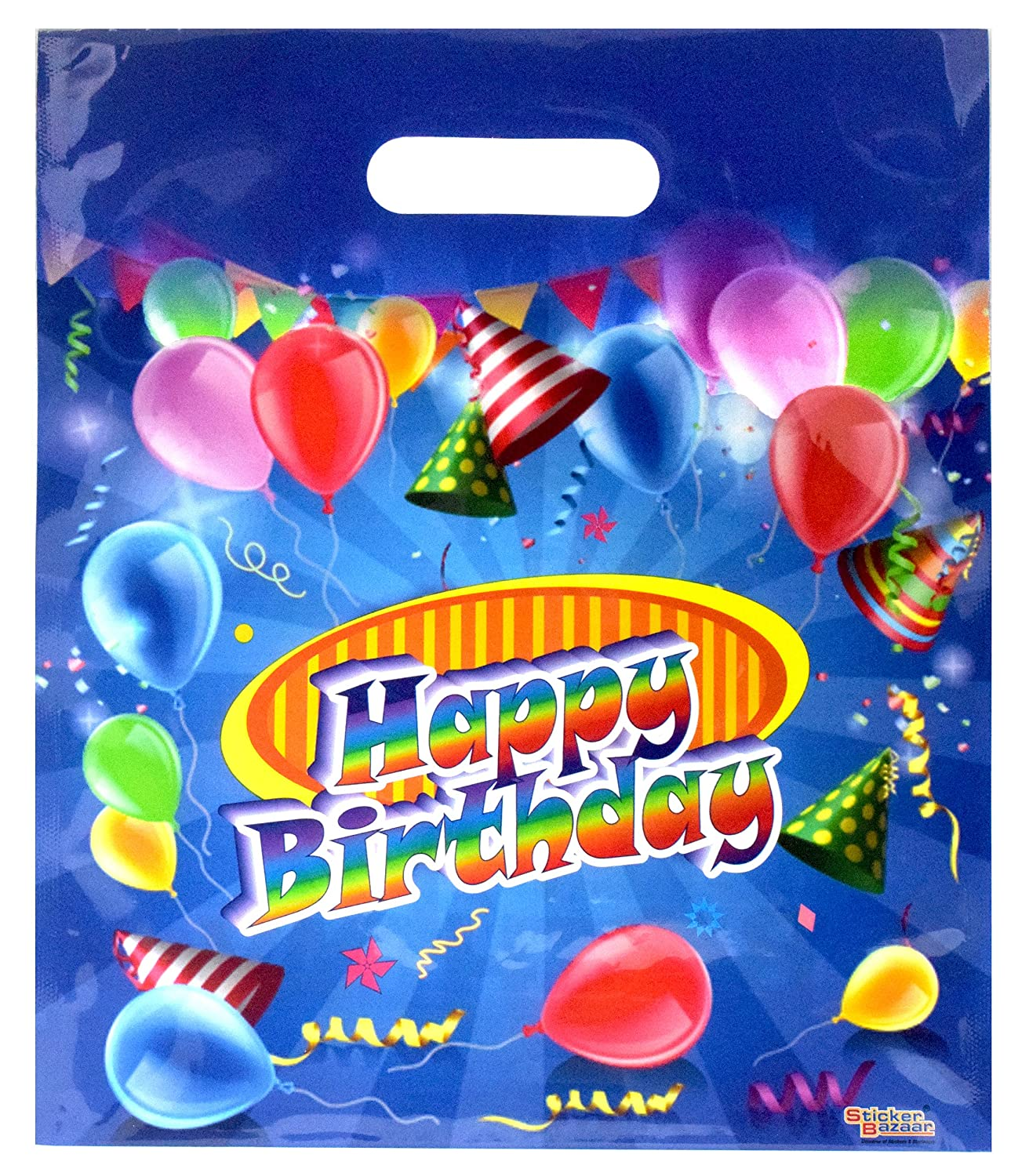 Sticker bazaar happy birthday poly party bags gift 50 amazon in toys games