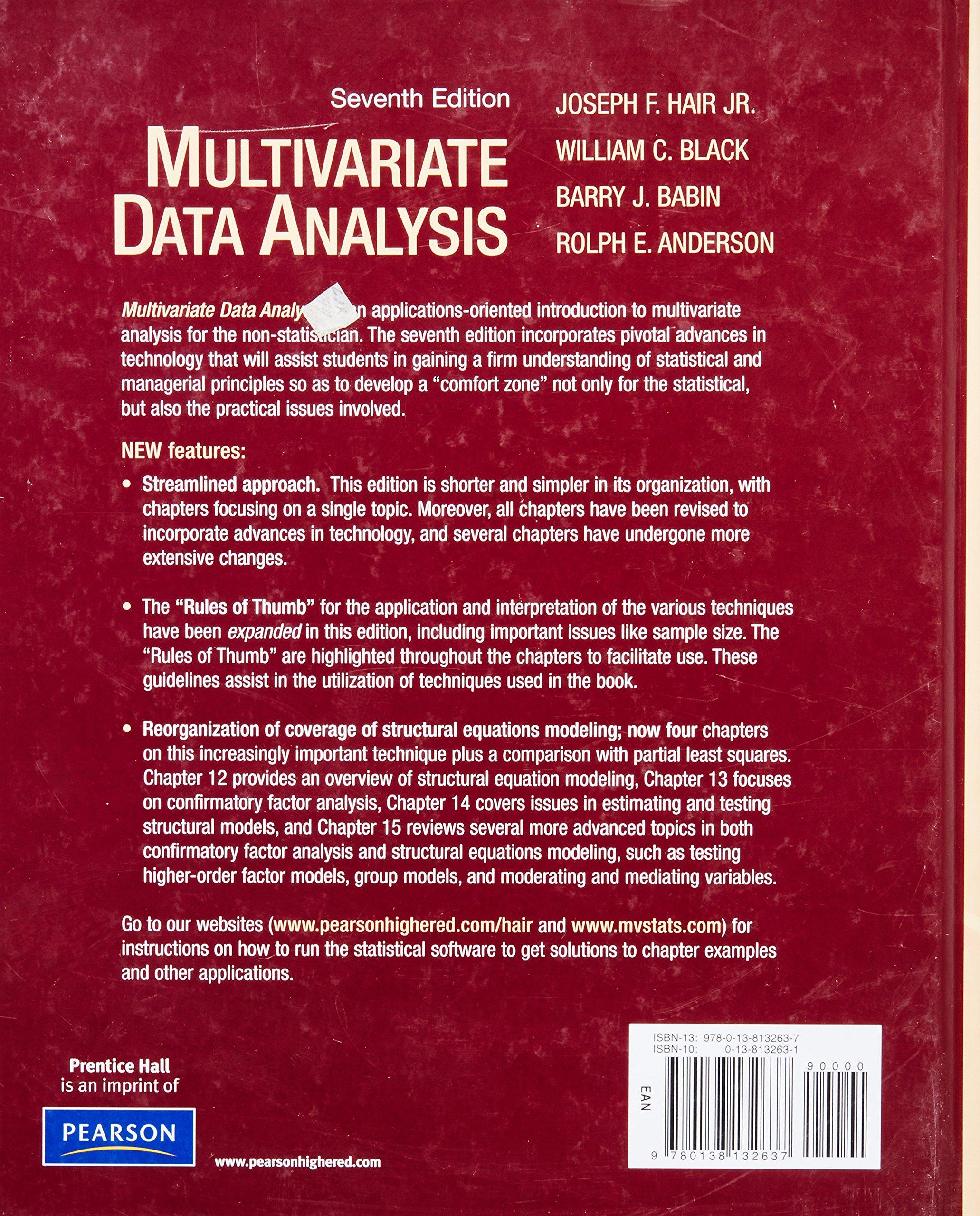 multivariate data analysis amazon co uk joseph f hair jr william