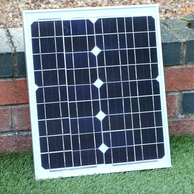 PK Green Ventilador Solar 12V DC Portátil con Panel Solar 20W Monocristalino para Camping, Caravana, Invernadero, Coche: Amazon.es: Jardín